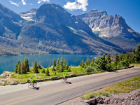 Biking in Glacier National Park Montana